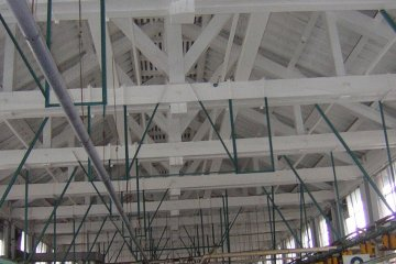 The ceiling is a combination of Japanese and Western architecture