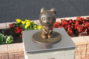 One of the Fujiko Fujio statues outside the main entrance