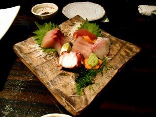 Sashimi (sliced raw fish) assortment. Fresh and yummy!