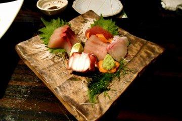 <p>Sashimi (sliced raw fish) assortment. Fresh and yummy!</p>