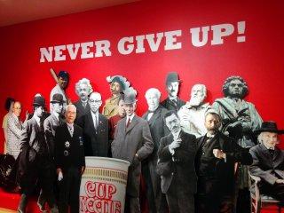 Thông điệp của bảo tàng này là 'đừng bao giờ bỏ cuộc'. Thật sự thì phải trải qua hàng thập kỷ thử và sai, những cuộc chiến pháp lý, và sự giúp đỡ giữa những đối thủ cạnh tranh đểtạo nên sản phẩm đặc trưng này.