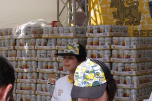 Mountain of Singha beer? Check