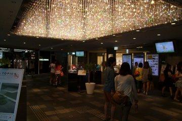 <p>Mall lobby, or dimly-lit wine bar?</p>