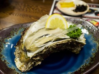 This huge oyster was 1200 yen a pop, but oh man was it heavenly.