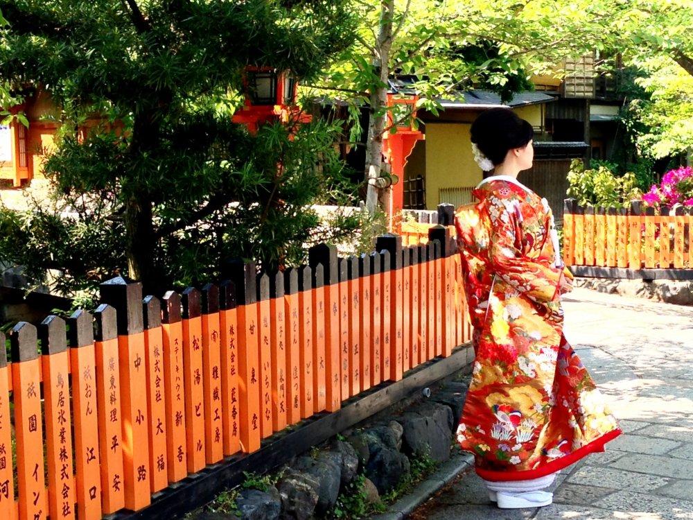 Đám cưới mùa xuân ở Kyoto