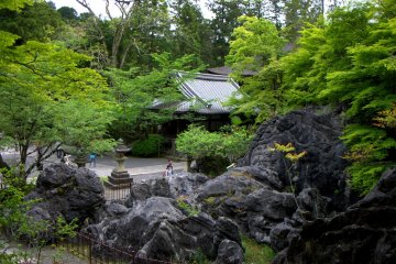 Many beautiful buildings stand in the temple's extensive grounds