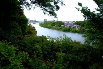 View of the Seta River from the temple grounds