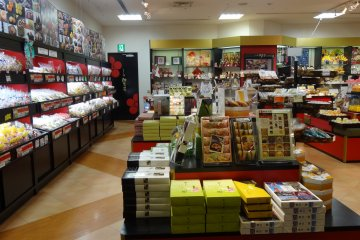 <p>Japanese desserts, colorful candy and many kinds of souvenirs for sale</p>