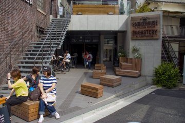 <p>The terrace of The Roastery</p>