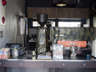 The barista machine and coffee grinder