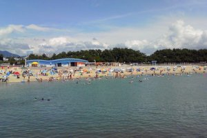 Tanabe's very own city beach is popular amongst the locals