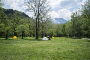 Camping grounds offering spectacular views