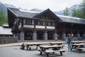 Visitor's centre at the Kamikochi Bus Terminal