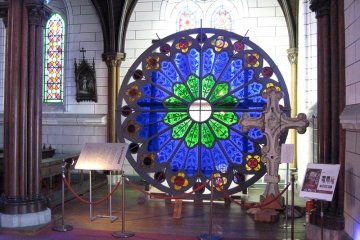 <p>Stained glass window from St. Francis Xavier&#39;s Cathedral</p>