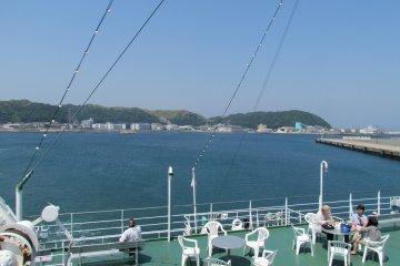 <p>Ferry from Keikyu Kurihama to Nokogiriyama</p>