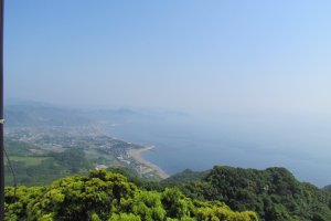 View of Chiba coastline from the summit ofNokogiriyama