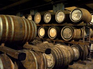 The smell of whiskey is very strong in the aging cellar