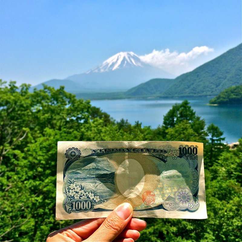 <p>The northern shore of Lake Motosu presents a glorious view of snow-capped Mt. Fuji. The scene designed and printed on the 1,000yen bill!</p>