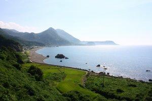La côte dans le nord-ouest de l'île