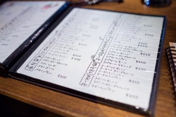 <p>Just some of Zapot&#39;s beverages up for consumption. Most menu items are readable for visitors with comprehension of Japanese katakana. Otherwise if you order in slow English, you might be understood as many words for drink items in English and Japanese sound similar.</p>