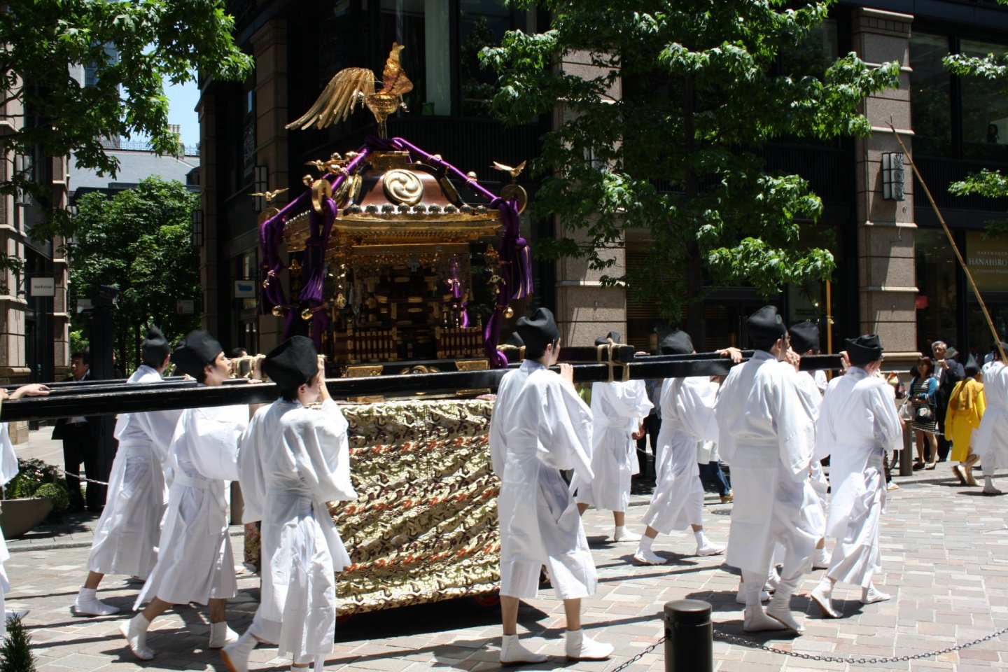 One of the 3 portable shrines in the procession