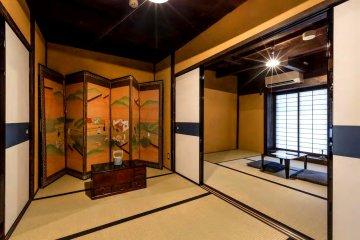 Graceful rooms at Bifuku, , the sister guesthouse to Roujiya