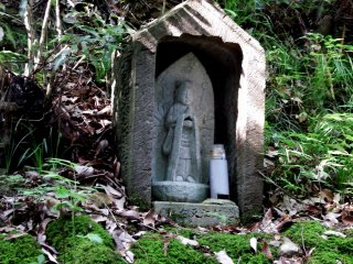 Very small Kannon statue (goddess of mercy) I found on the way to the cemetery of the Matsudaira Clan