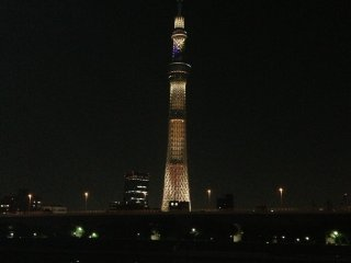 If you walk to theSumidaRiver, you can see SkyTree more clearly