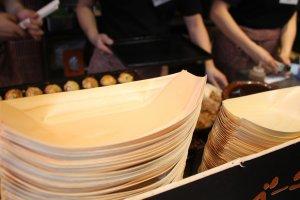 Les takoyaki sont en cours de préparation!