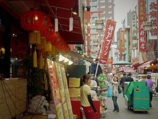 The street is quite busy and welcomes the Chinese community and visitors alike.