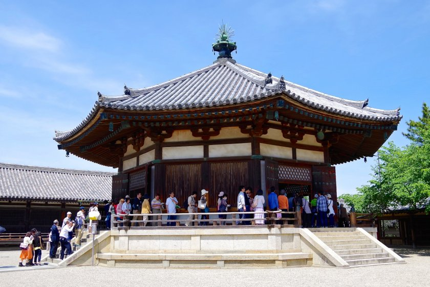 Yume-dono Hall, which houses Guze (Kuse) Kannon statue