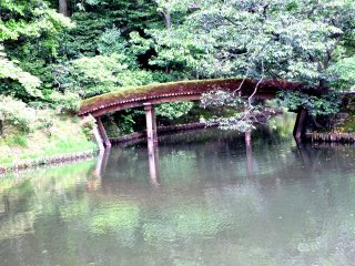 Bridges like this make it easy to imagine you are in the Japan of yesteryear