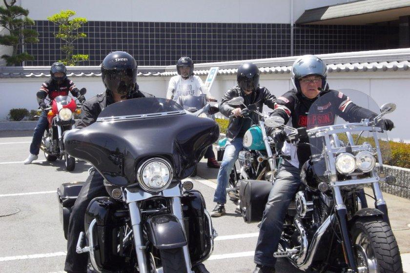 Biking group visiting Bizen Osafune Sword Museum