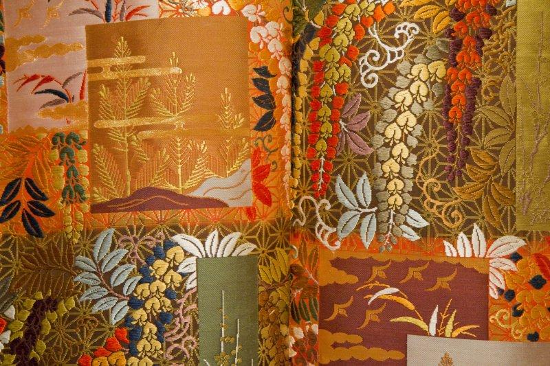 <p>Detail of an exquisite kimono</p>