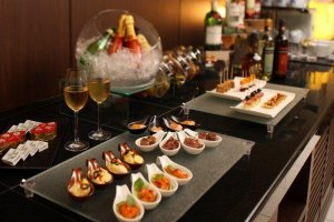 Welcoming Hors d'oeuvre await you in the club lounge after a big day out