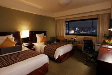 <p>choose from city or more expensive but soothing river view rooms</p>