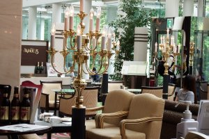 Lobby lounge. You can have breakfast at the restaurant & cafe 'Amadeus' seen in the background