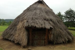 One of the preserved huts at the Sanno Historic Park in Kurihara.