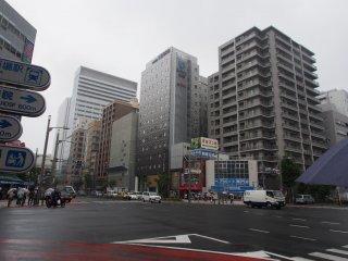 Район Цукидзи в очень серый день