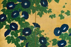 """Morning Glories"" by Kiitsu Suzuki (partial)"