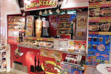 <p>Kebab can be bought for those who aren&#39;t too sure about trying Japanese food</p>