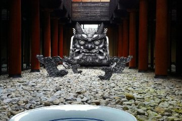 Kikuma tile demon and Tobeyaki bowl