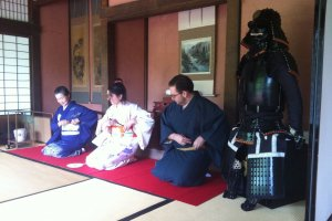 Preparing for the tea ceremony