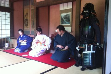 <p>Preparing for the tea ceremony</p>