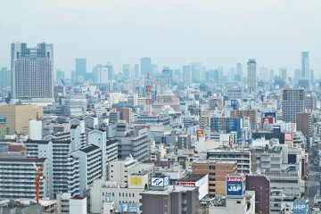 <p>五层展望台看窗外的大阪</p>