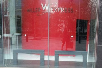 <p>ณ ท่ารถบัส Willer Express</p>