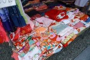 Colorful old Kimono