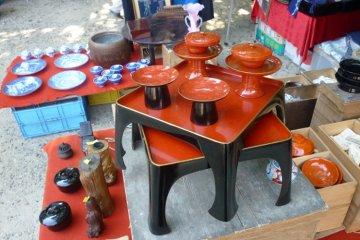 Antique serving sets...