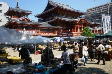Trash or treasure? You decide at Osu Kannon Temple.