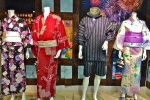 A Yukatais a summer kimono traditionally worn to enjoy Hanabi (Fireworks) in major cities like the Sumida River Fireworks Festival in Asakusa, Tokyo. Photo taken at Marui City Shibuya.
